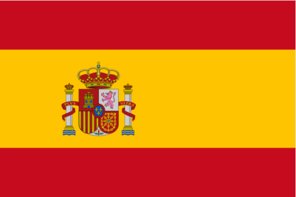 Spanish flag at Learn Danish with Ease